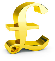 Gold Pound Sign representing rebate recovery