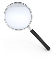 Magnifying glass representing concessions review